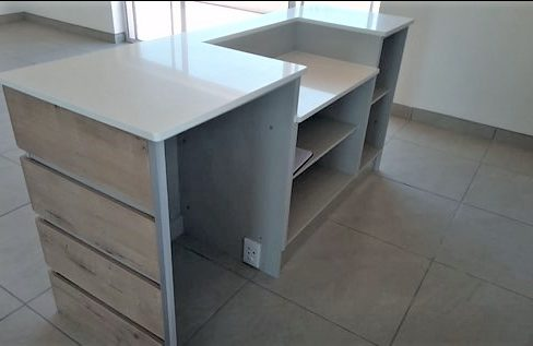 Bar counter with fridge space