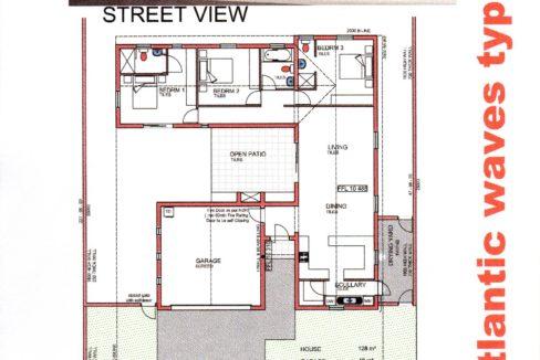Plan of plot and plan for sale beachfront Laaiplek